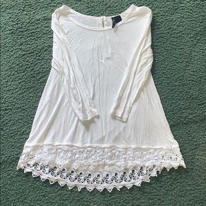 White flowy new directions blouse
